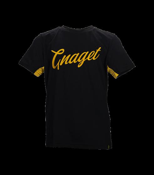 T-shirt svart gnaget skrivstil