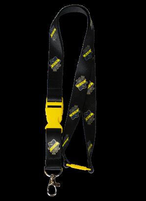 Nyckelband sköld, gult spänne