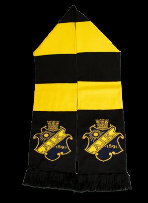 Halsduk svart gul klassisk
