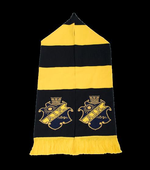 Halsduk svart gul klassisk gul frans