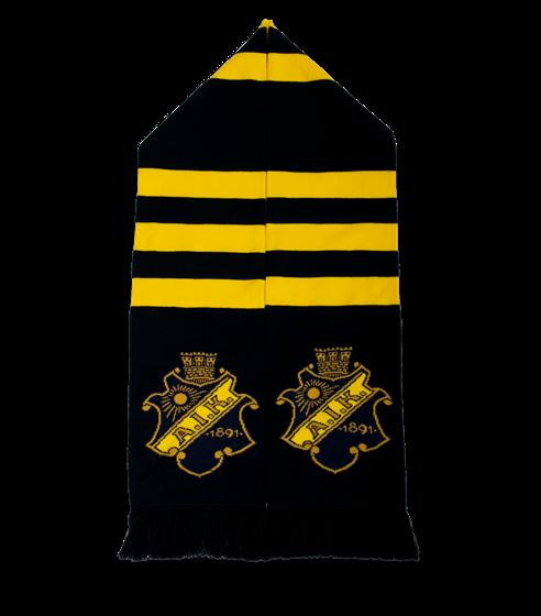 Halsduk svart gul ränder