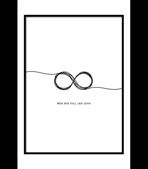 Poster Med Dig vill jag leva