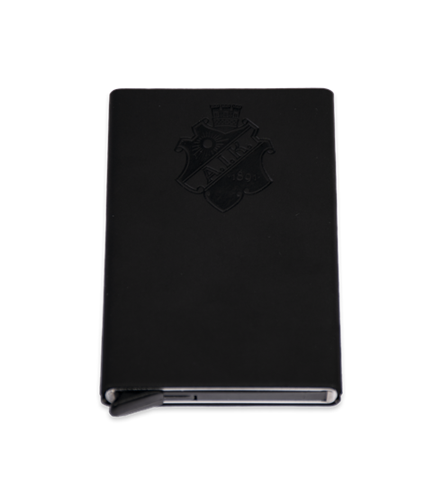 Popup plånbok svart sköld