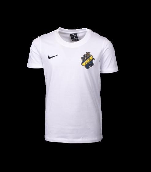 Nike vit t-shirt färgad sköld