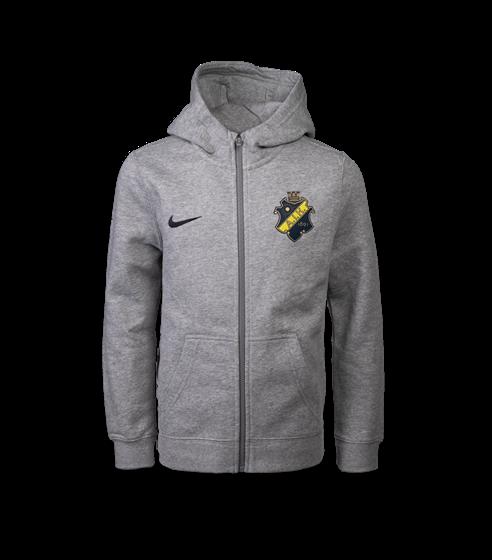 Nike ziphood grå sköld barn