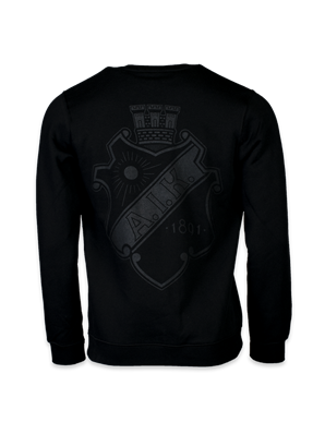 Nike sweatshirt svart sköld stor rygg