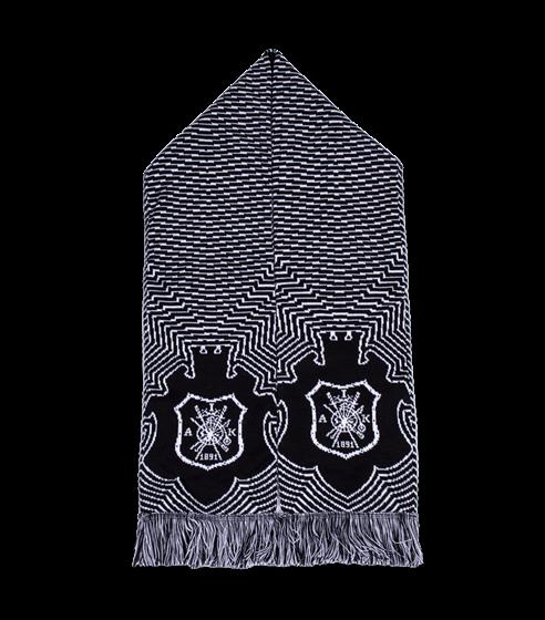 Halsduk svart/vit gamla skölden