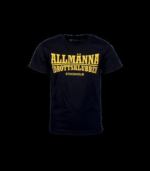 T-shirt svart Allmänna idrottsklubben BARN