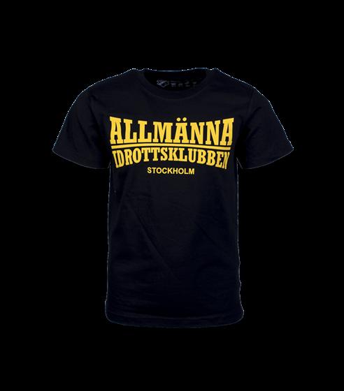 T-shirt svart Allmänna Idrottsklubben