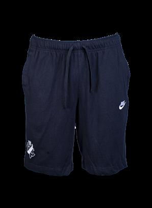 Nike svarta bomullsshorts svart/vit sköld