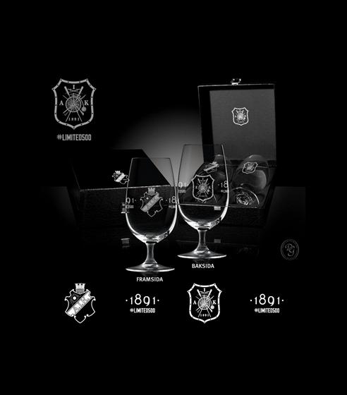 Limited Edition 2-p Ölglas på fot