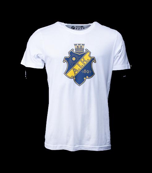 T-shirt vit sköld vuxen