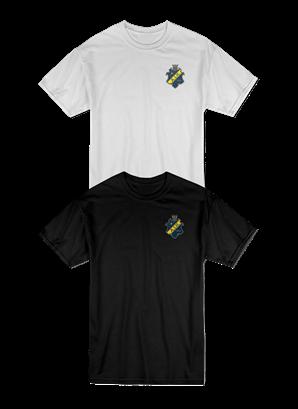 T-shirt 2pack färgad sköld barn