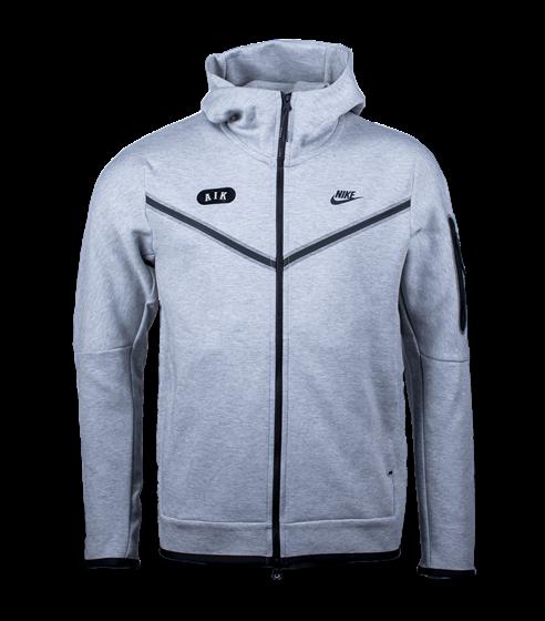 Nike grå techfleece armficka