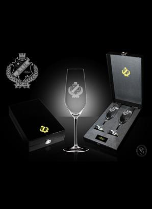 Jubileumsglas champagne 130år