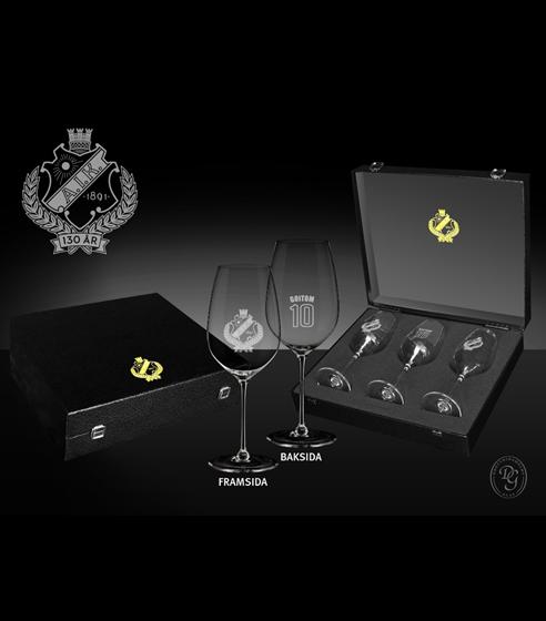 Vinglas 3-pack jubileum personlig gravyr