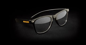Glasses with logo