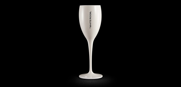 Champagneglas med tryck