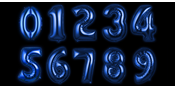 Foil balloon Blue Numbers 100 cm