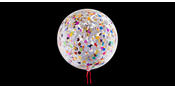 Balloon with confetti mix