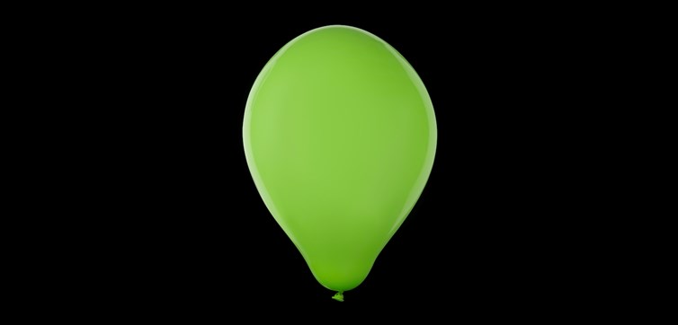 Pistage green balloons