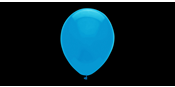 Professional 33 cm seablue balloons