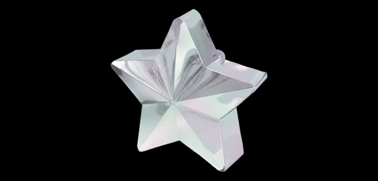 Balloon weight Transparent star