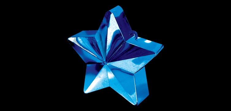 Balloon weight Blue star