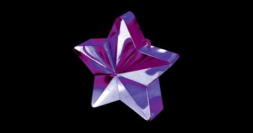 Balloon weight Purple star