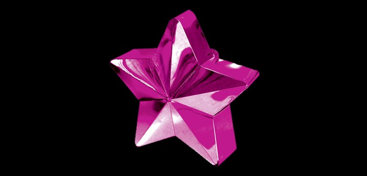 Balloon weight Dark pink star
