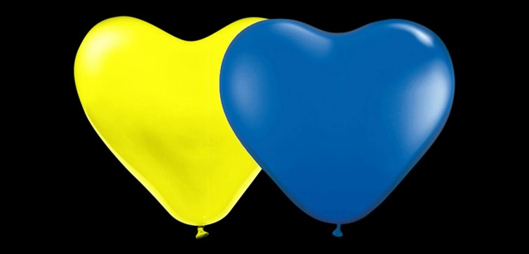 Swedish combo heart balloons