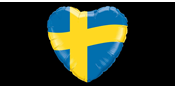 Foil balloon Swedish heart