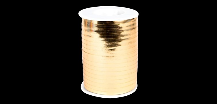 Gold metallic Ribbon 500 m