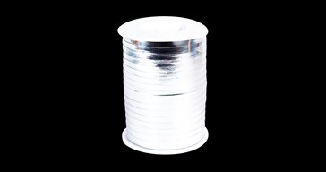 Silver metallic Ribbon 500 m