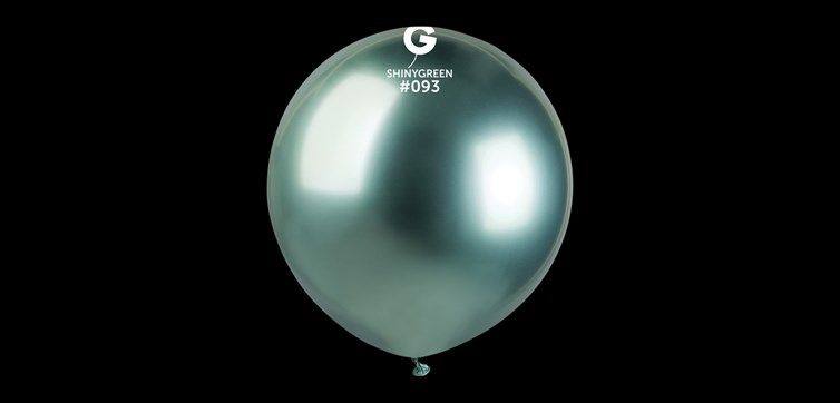 Big green chrome balloons