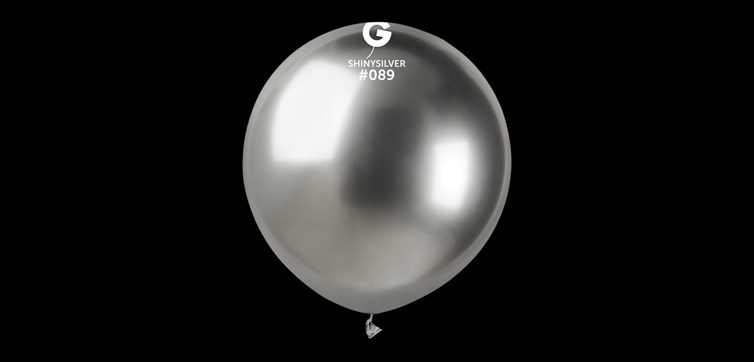 Big silver chrome balloons
