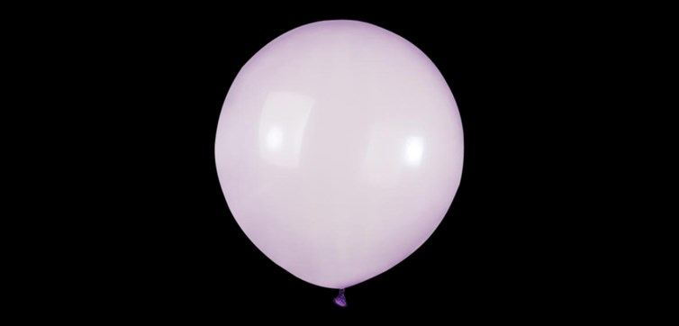 Big round crystal purple balloons