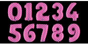 Pink polka dot balloon numbers