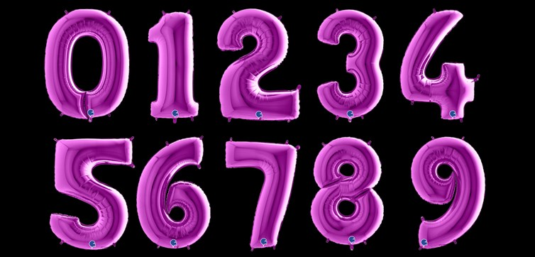 Purple number balloon