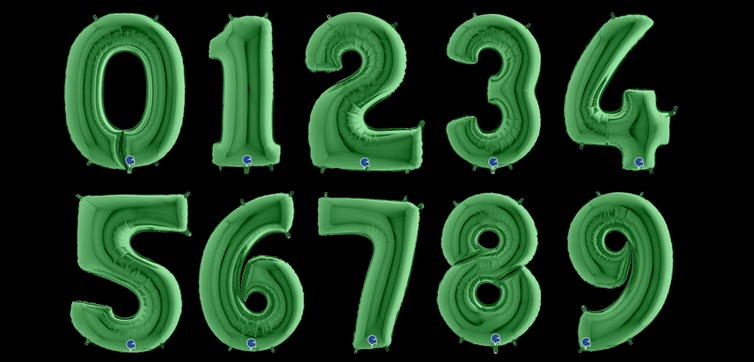 Green number balloon