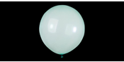 Big round crystal green balloons