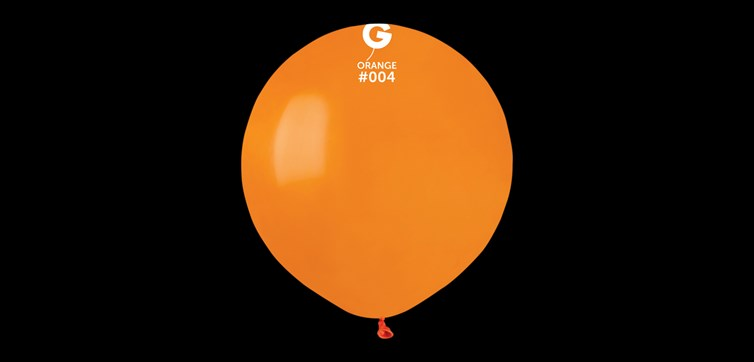 Big round orange balloons