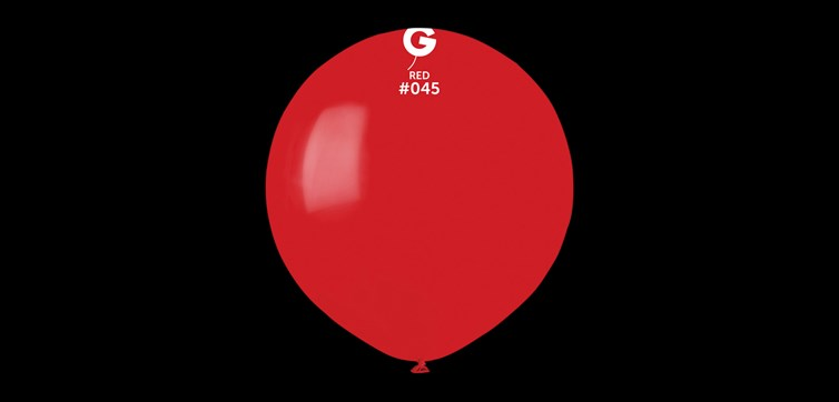 Big round red balloons