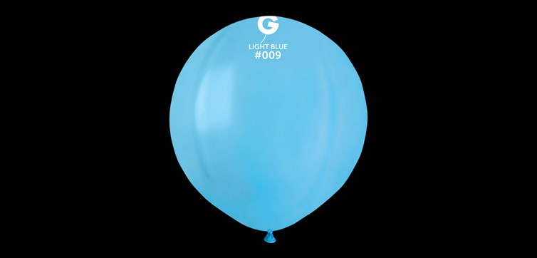 Big round light blue balloons