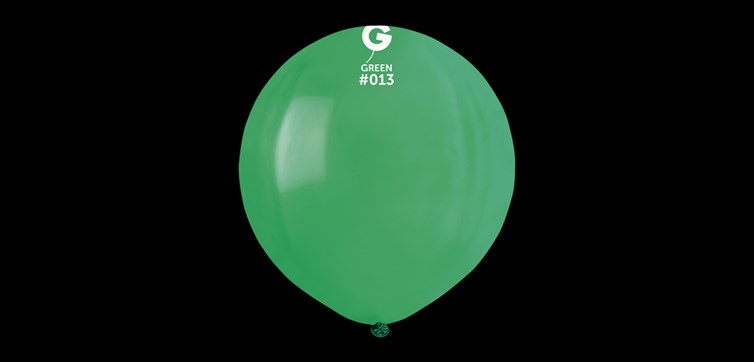 Big round green balloons