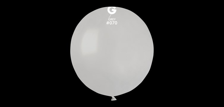 Big round grey balloons