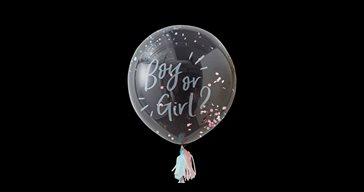 Boy or Girl Gender reveal ballong