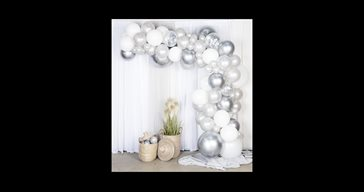 Balloon arch kit silver/chrome