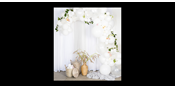 Balloon arch kit white