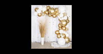 Balloon arch kit gold/chrome